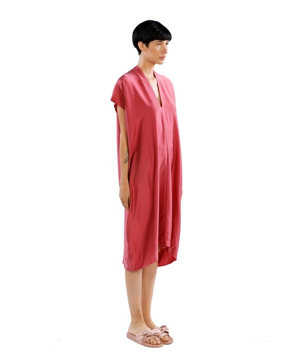 Miranda Bennett Madrid Silk Charmeuse Everyday Dress