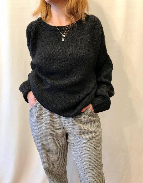 Atelier Delphine Lark Sweater in Brown, Black and Cream