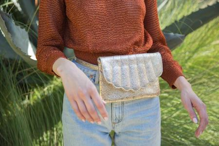 Cab Collection Shell Fanny Pack - Gold