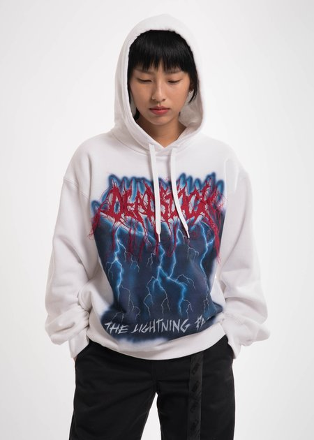 Doublet White Deadstock Embroidery Hoodie