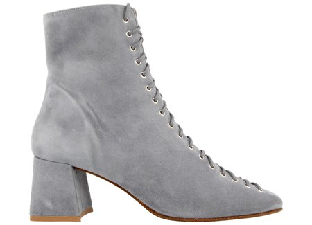 By Far Shoes Becca - Jeans Blue Suede