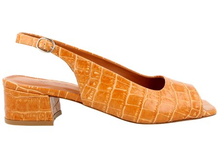 By Far Shoes Caroline - Croco Beige