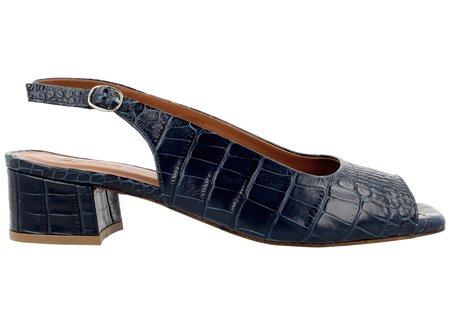 By Far Shoes Caroline - Croco Dark Blue