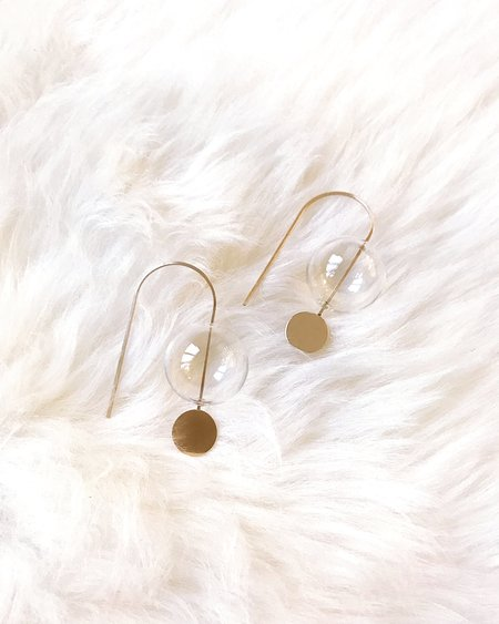By Boe Glassed Sphere Earrings