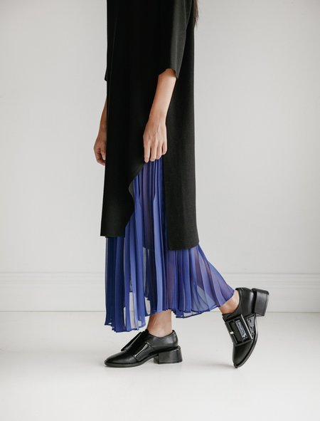 Ys by Yohji Yamamoto Cut Away Layered Knit Dress