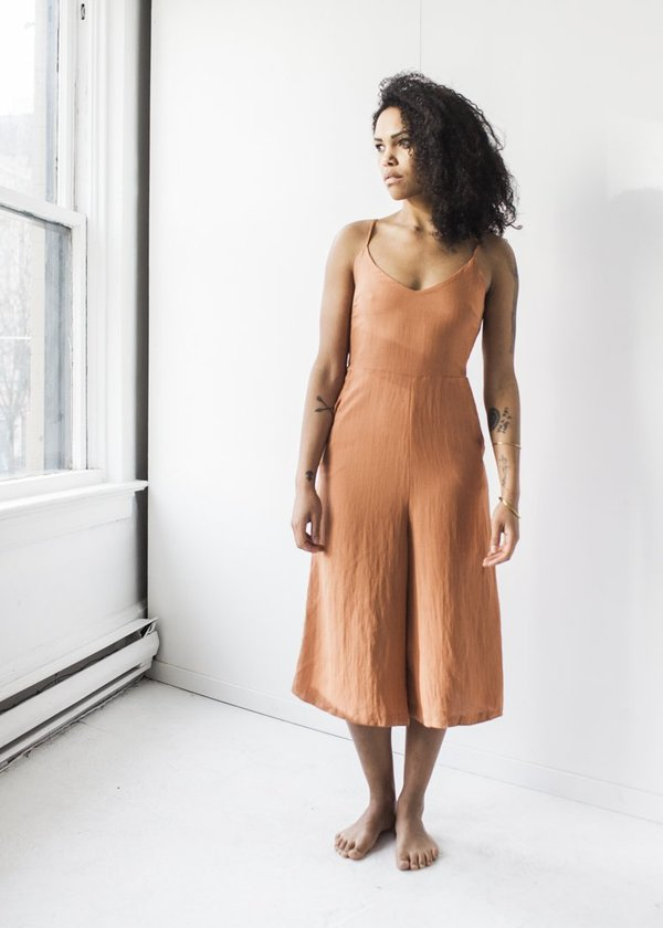 C+L Finds Presley Jumpsuit in Rust