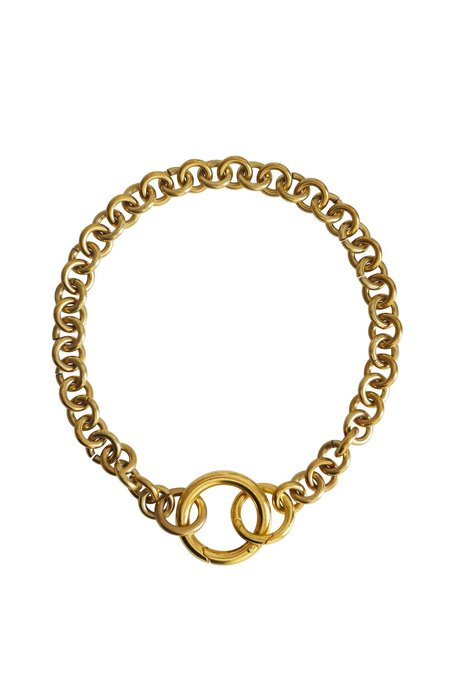 Laura Lombardi Fede Necklace - brass