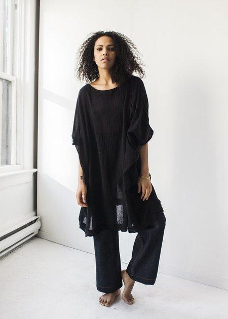 Uzi Gauze Dress in Black