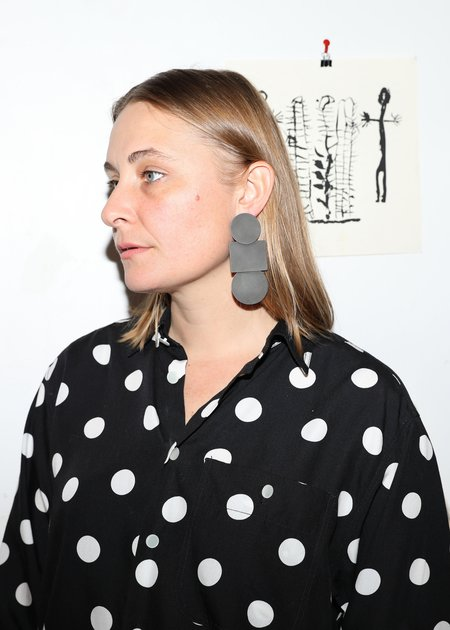 Annie Costello Brown Popova Earrings - Black Oxide