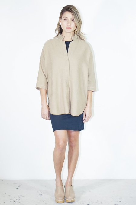 Humanoid Fishbone Faryn Blouse in Dune