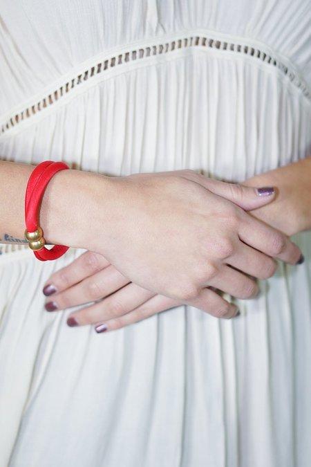 Stella Fluorescent Modular Bracelet in Red