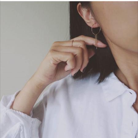 Nepheliad Dreamcatcher Open Hoop Earrings - Small
