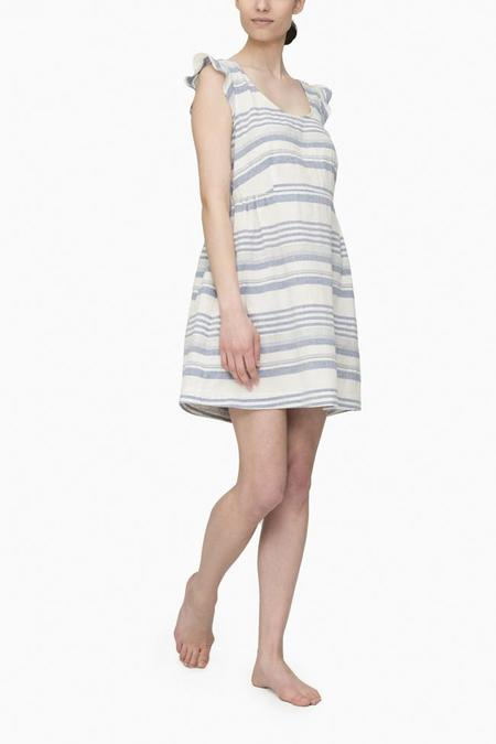 The Sleep Shirt Scoop Neck Nightie Beach Stripe
