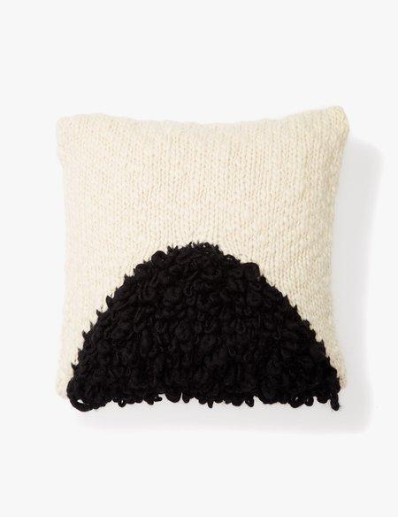 Minna Black Moon Shag Pillow