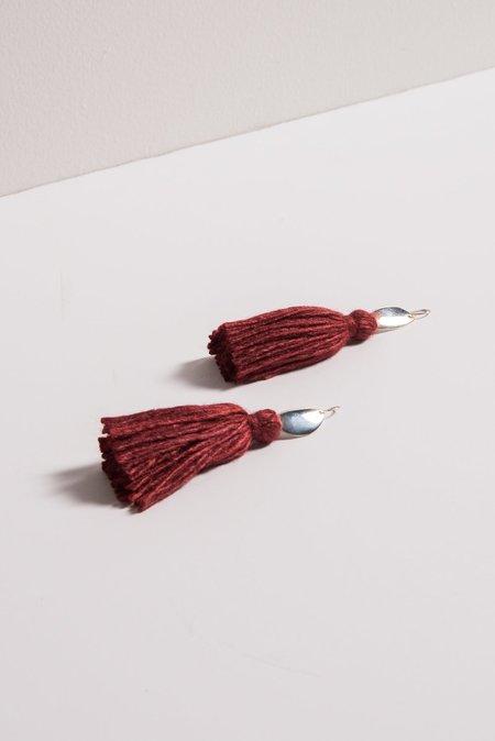 Erin Considine Medio Tassel Earrings in Carmine