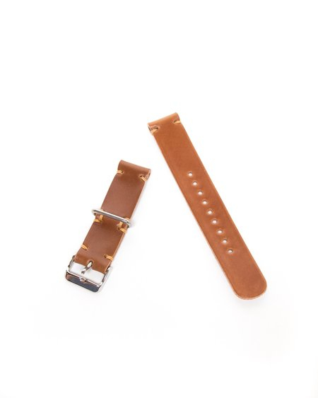 Whiskey Cordovan Two-Piece Watch Strap