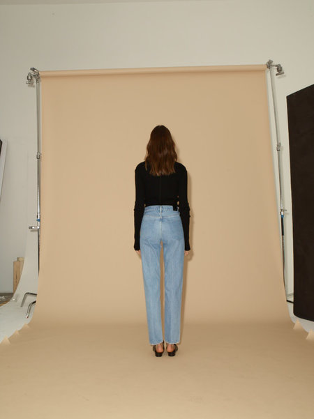 Goldsign Benefit Jean in Stone Blue Goldsign Classic Fit Jean in Marled Blue