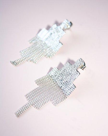 Hannah K Pixel Earrings - sterling silver