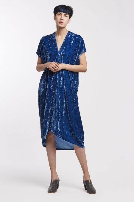 Miranda Bennett Studio Everyday Dress Velvet in Versailles Indigo