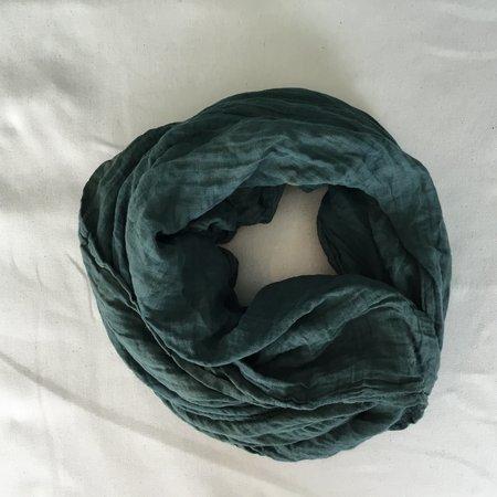 Dear Indigo forest green scarf
