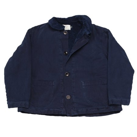 Olderbrother Hand Me Down - Sherpa Chore Coat - Indigo