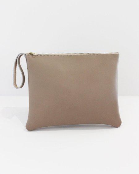Esby Leather Clutch - Driftwood Calfskin