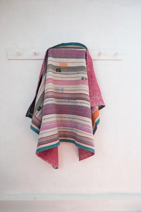 Karu Vintage Kantha Quilt in Pinks