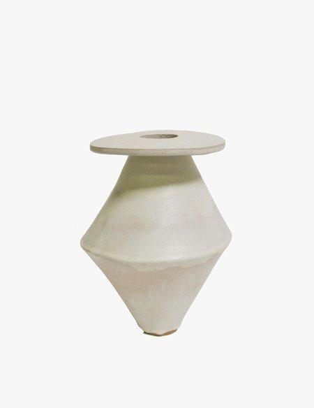 Bari Ziperstein Medium Cream Diamond Vase