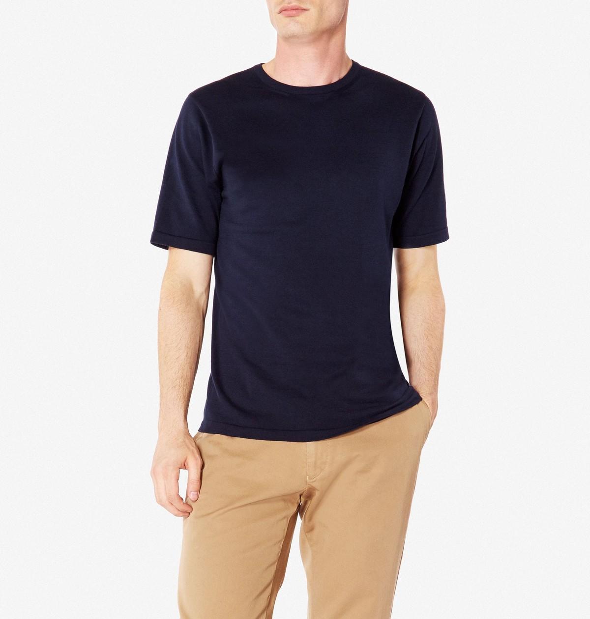 Sunspel Sea Island Cotton Knit T Shirt Garmentory