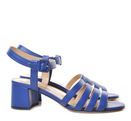 Maryam Nassir Zadeh Lapis Calf Low Heel Sandals