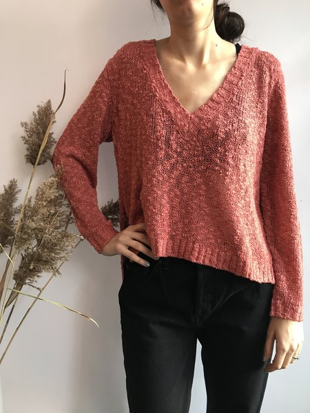 SOMEDAYS LOVIN FADING LIGHT JUMPER - ROSE BRULÉ