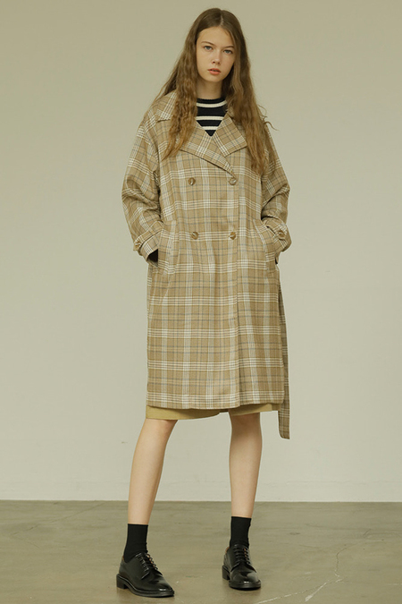 Outstanding Ordinary Plaid Trench Coat