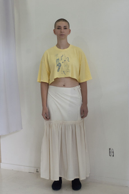 A Person Made Pleated Wrap Skirt