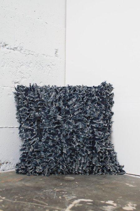 Alexa Stark Denim Shag Pillow