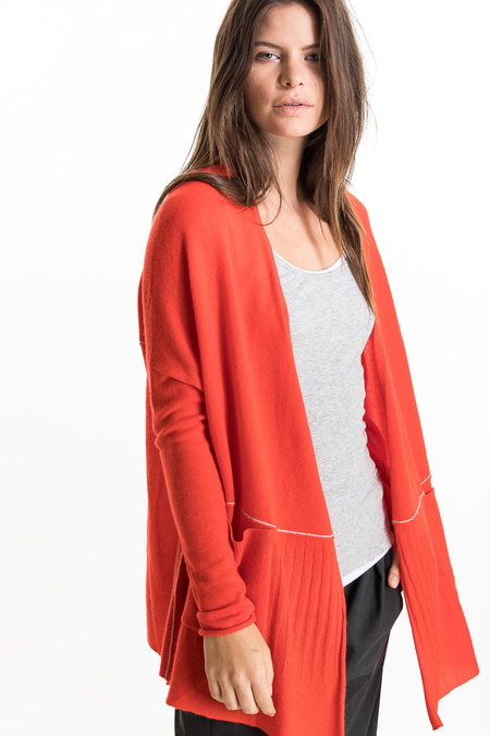 Paychi Guh Cashmere Open Back Cardigan - Flame