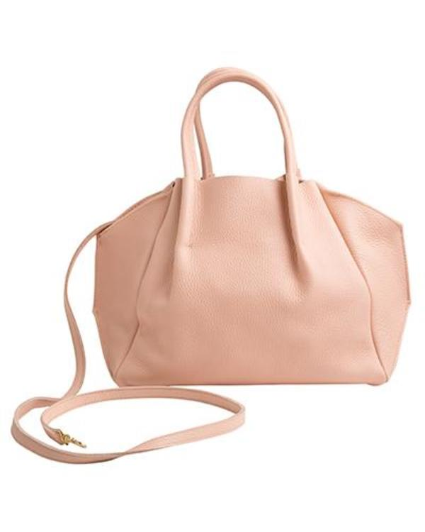 Oliveve Zoe Tote In Cameo Pebble Cow Leather