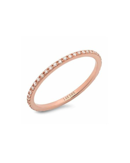Sachi Jewelry Classic Eternity Band - 14k Rose Gold