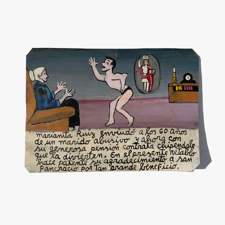 Found By Kindred Black The Widow Hires a Stripper Retablo