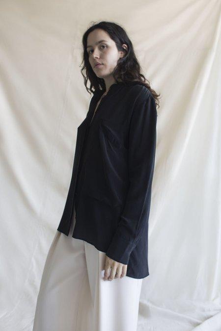 Vincetta Mandarin Collar Shirt - Black
