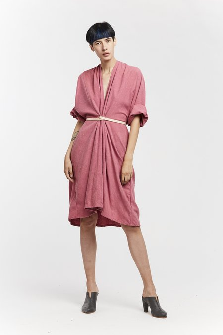 Miranda Bennett O'Keeffe Dress - Silk Noil in Rio
