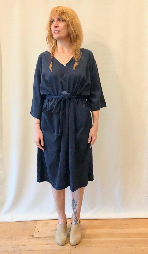Sunja Link Patch Pocket Dress in Navy/Black