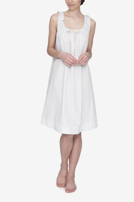 The Sleep Shirt Sleeveless Nightie - Memphis Stripe