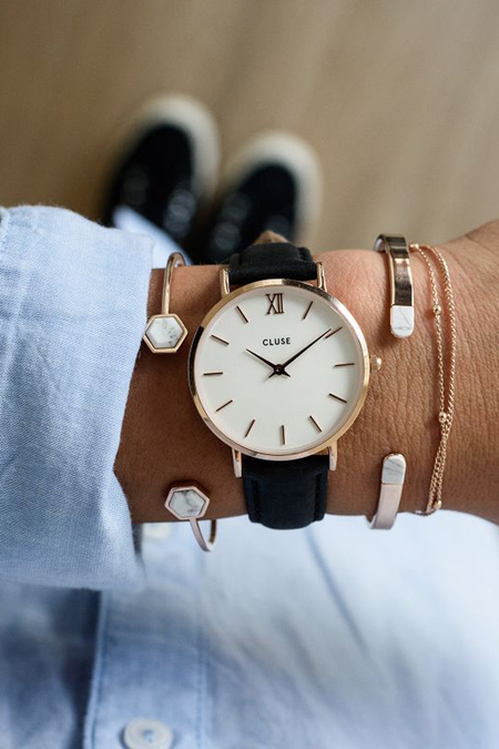 Cluse Watches Minuit - Rose Gold White/Black