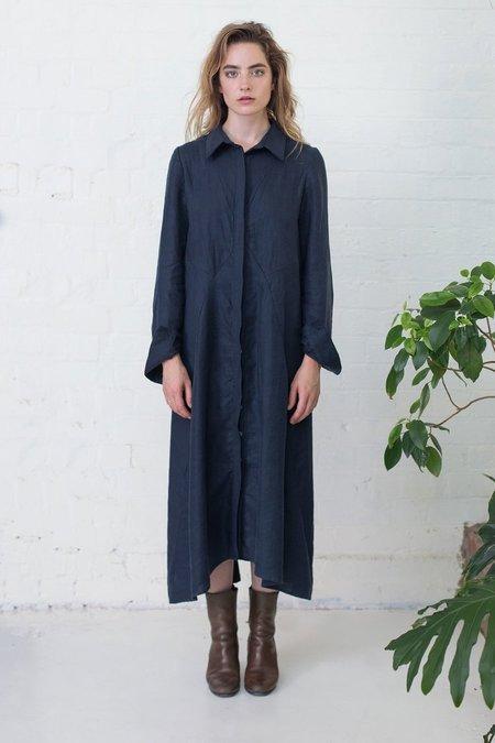 Lois Hazel Navy Mirror Shirt Dress - Sample