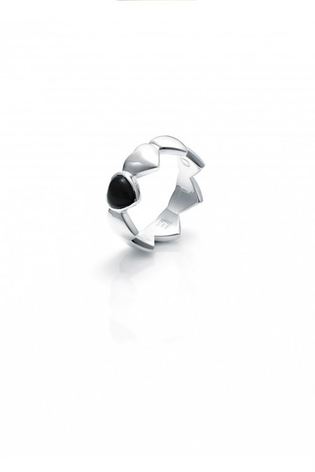 STOLEN GIRLFRIENDS CLUB BAND OF HEARTS RING ONYX
