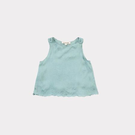 Kids Caramel Tuz Baby Top - Dusty Turquoise