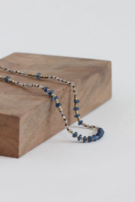 Kakoon #5 Silver And Sapphire Necklace