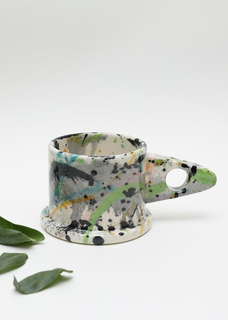 Echo Park Pottery Short Mug - Splatter Green