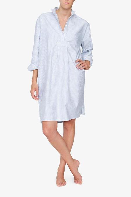 The Sleep Shirt Long - Blue Oxford Stripe