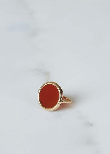 Ginette NY Cordoba Carnelian Disc Ring